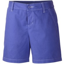 Columbia Sportswear Kenzie Cove Shorts - Cotton Twill (For Girls) in Purple Lotus/Whitened Violet - Closeouts