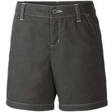 Columbia Sportswear Kenzie Cove Shorts - Cotton Twill (For Little and Big Girls) in Grill/Mirage - Closeouts