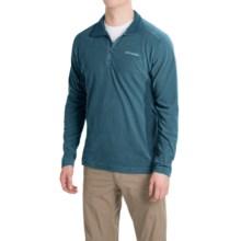Columbia Sportswear Klamath Range II Shirt - Zip Neck, Long Sleeve (For Men) in Everblue/Night Shadow - Closeouts
