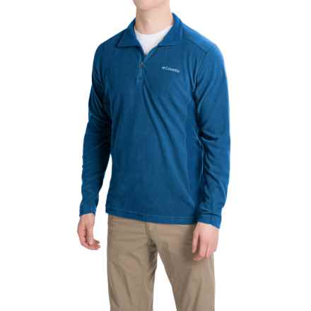 Columbia Sportswear Klamath Range II Shirt - Zip Neck, Long Sleeve (For Men) in Marine Blue - Closeouts
