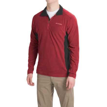 Columbia Sportswear Klamath Range II Shirt - Zip Neck, Long Sleeve (For Men) in Red Element/Black - Closeouts