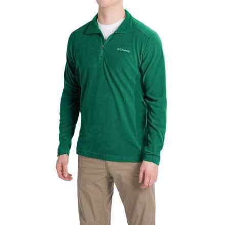 Columbia Sportswear Klamath Range II Shirt - Zip Neck, Long Sleeve (For Men) in Wildwood Green - Closeouts