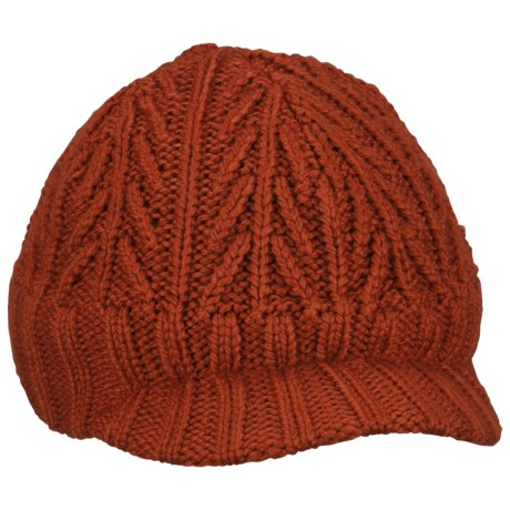 Columbia Sportswear Knit Visor Beanie Hat (For Boys) in Flame
