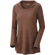 Columbia Sportswear Knotty Trail Hoodie Shirt - Long Sleeve (For Women) in Brownstone Heather - Closeouts