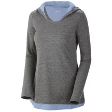 Columbia Sportswear Knotty Trail Hoodie Shirt - Long Sleeve (For Women) in Coal Heather - Closeouts