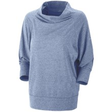 Columbia Sportswear Knotty Trail Shirt - Cowl Neck, 3/4 Sleeve (For Women) in Blue Iris Heather - Closeouts