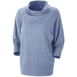 Columbia Sportswear Knotty Trail Shirt - Cowl Neck, 3/4 Sleeve (For Women) in Blue Iris Heather