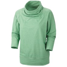 Columbia Sportswear Knotty Trail Shirt - Cowl Neck, 3/4 Sleeve (For Women) in Fuse Green Heather - Closeouts
