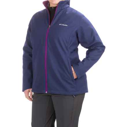 Columbia Sportswear Kruser Ridge Soft Shell Jacket (For Plus Size Women) in Nightshade/Bright Plum - Closeouts