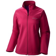 Columbia Sportswear Kruser Ridge Soft Shell Jacket (For Plus Size Women) in Pomegranate - Closeouts