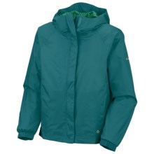 Columbia Sportswear Lake of Lace Shell Jacket (For Little Girls) in Light Turquoise - Closeouts