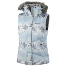 Columbia Sportswear Lay D Down Omni-Heat® Vest (For Women) in Ice Grey Mineral Rock Print - Closeouts
