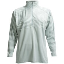 Columbia Sportswear Layer First II Stripe Shirt - Zip Neck, UPF 15, Long Sleeve (For Plus Size Women) in Niagra Stripe - Closeouts