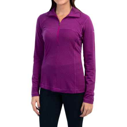 Columbia Sportswear Layer First Shirt - UPF 15, Neck Zip, Long Sleeve (For Women) in Bright Plum - Closeouts