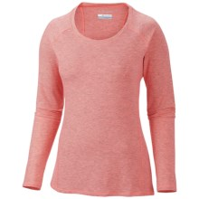 Columbia Sportswear Layer First Stripe Shirt - UPF 15, Long Sleeve (For Women) in Coral Glow Heat - Closeouts