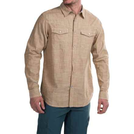 Columbia Sportswear Leadville Range Shirt - Snap Front, Long Sleeve (For Men) in Crouton Oxford - Closeouts