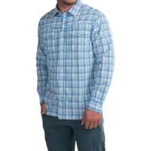 Columbia Sportswear Leadville Range Shirt - Snap Front, Long Sleeve (For Men) in Super Blue Plaid - Closeouts