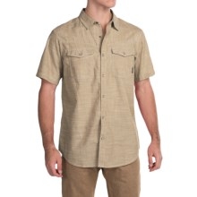 Columbia Sportswear Leadville Range Shirt - Snap Front, Short Sleeve (For Men) in Crouton Oxford - Closeouts