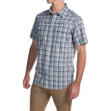 Columbia Sportswear Leadville Range Shirt - Snap Front, Short Sleeve (For Men) in Night Tide Plaid - Closeouts