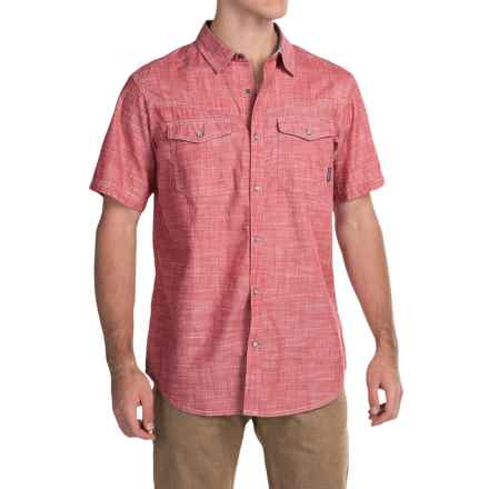 Columbia Sportswear Leadville Ridge Shirt - Snap Front, Short Sleeve (For Men) in Sunset Red Oxford - Closeouts