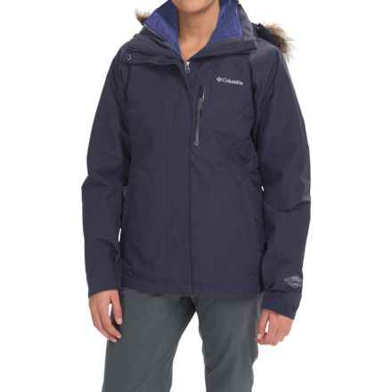 Columbia Sportswear Lhotse Interchange Omni-Heat® Snow Jacket - Waterproof, Insulated, 3-in-1 (For Women) in Nocturnal/Bluebell - Closeouts