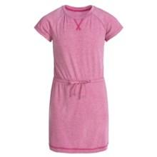 Columbia Sportswear Little Woods Dress - Short Sleeve (For Big Girls) in Haute Pink Heather - Closeouts