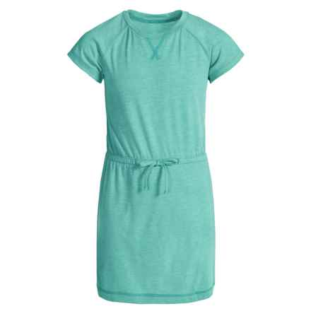 Columbia Sportswear Little Woods Dress - Short Sleeve (For Big Girls) in Miami Heather - Closeouts