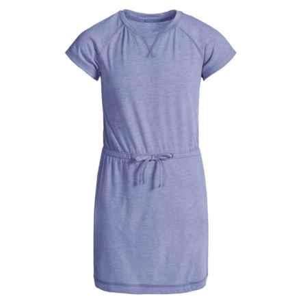 Columbia Sportswear Little Woods Dress - Short Sleeve (For Big Girls) in Pale Purple Heather - Closeouts