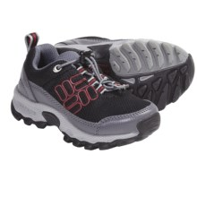 Columbia Sportswear Lonerock Mesh Shoes (For Kids) in Black/Intense Red - Closeouts