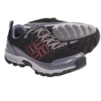 Columbia Sportswear Lonerock Mesh Shoes (For Youth) in Black/Intense Red