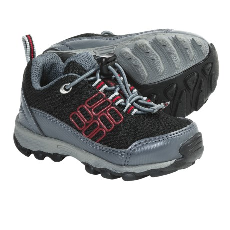Columbia Sportswear Lonerock Shoes (For Toddlers) in Black/Intense Red