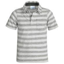 Columbia Sportswear Lookout Point Polo Shirt - Short Sleeve (For Little and Big Boys) in Grey Ash - Closeouts