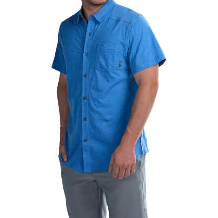 Columbia Sportswear Lookout Point Shirt - Short Sleeve (For Men) in Pacific Blue - Closeouts