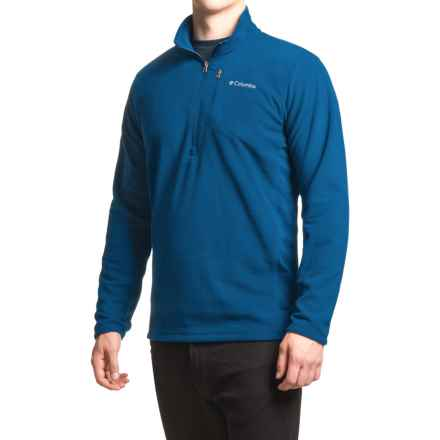Columbia Sportswear Lost Peak Fleece Pullover Shirt - Zip Neck, Long Sleeve (For Men) in Marine Blue - Closeouts