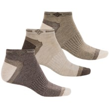 Columbia Sportswear Low-Cut Non-Slip Socks - 3-Pack, Below the Ankle (For Men) in Khaki/Brown - Closeouts