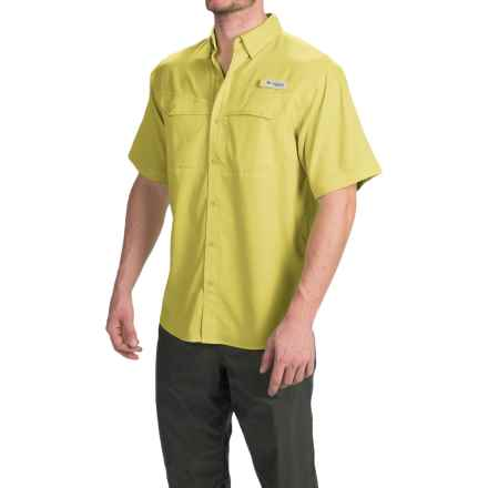 Columbia Sportswear Low Drag Offshore Fishing Shirt - UPF 40, Short Sleeve (For Men) in Mineral Yellow - Closeouts