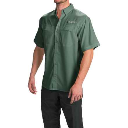Columbia Sportswear Low Drag Offshore Fishing Shirt - UPF 40, Short Sleeve (For Men) in Pond - Closeouts