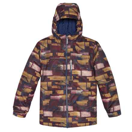 Columbia Sportswear Magic Mile Jacket - Waterproof, Insulated (For Little and Big Boys) in Collegiate Navy Brushed Geo Plaid