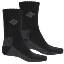 Columbia Sportswear Marled Thermal Socks - 2-Pack, Crew (For Kids) in Black - Closeouts