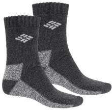 Columbia Sportswear Marled Thermal Socks - 2-Pack, Crew (For Kids) in Charcoal - Closeouts