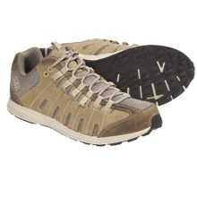Columbia Sportswear Master Fly Low Trail Running Shoes - Leather, Minimalist (For Women) in Fossil/Light Lime - Closeouts