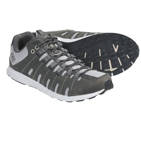 Columbia Sportswear Master Fly Low Trail Running Shoes - Leather, Minimalist (For Women) in Quarry/Champagne