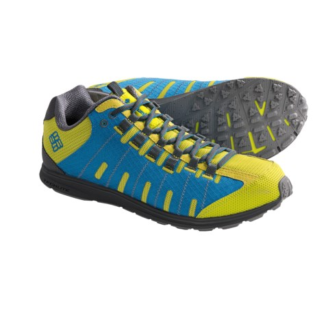 Columbia Sportswear Master Fly Trail Running Shoes - Minimalist (For Men) in Chartreuse/Compass Blue
