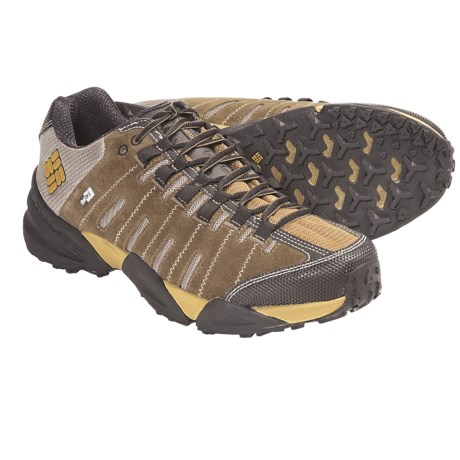 Columbia Sportswear Master of Faster Low OutDry® Trail Shoes - Waterproof, Suede (For Men) in Estate Blue/Golden Glow