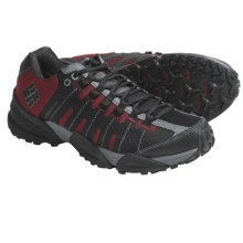 Columbia Sportswear Master of Faster Low Trail Shoes - Omni-Tech®, Waterproof (For Men) in Black/Chili Pepper - Closeouts
