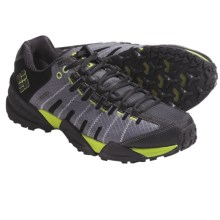 Columbia Sportswear Master of Faster Low Trail Shoes - Omni-Tech®, Waterproof (For Men) in Castle Rock/Lime Green - Closeouts