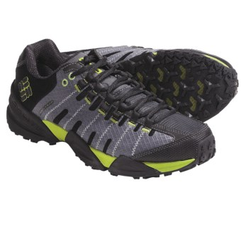 Columbia Sportswear Master of Faster Low Trail Shoes - Omni-Tech®, Waterproof (For Men) in Castle Rock/Lime Green