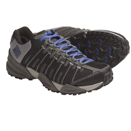 Columbia Sportswear Master of Faster Low Trail Shoes - Omni-Tech®, Waterproof (For Women) in Pagoda Blue/Metallic Silver