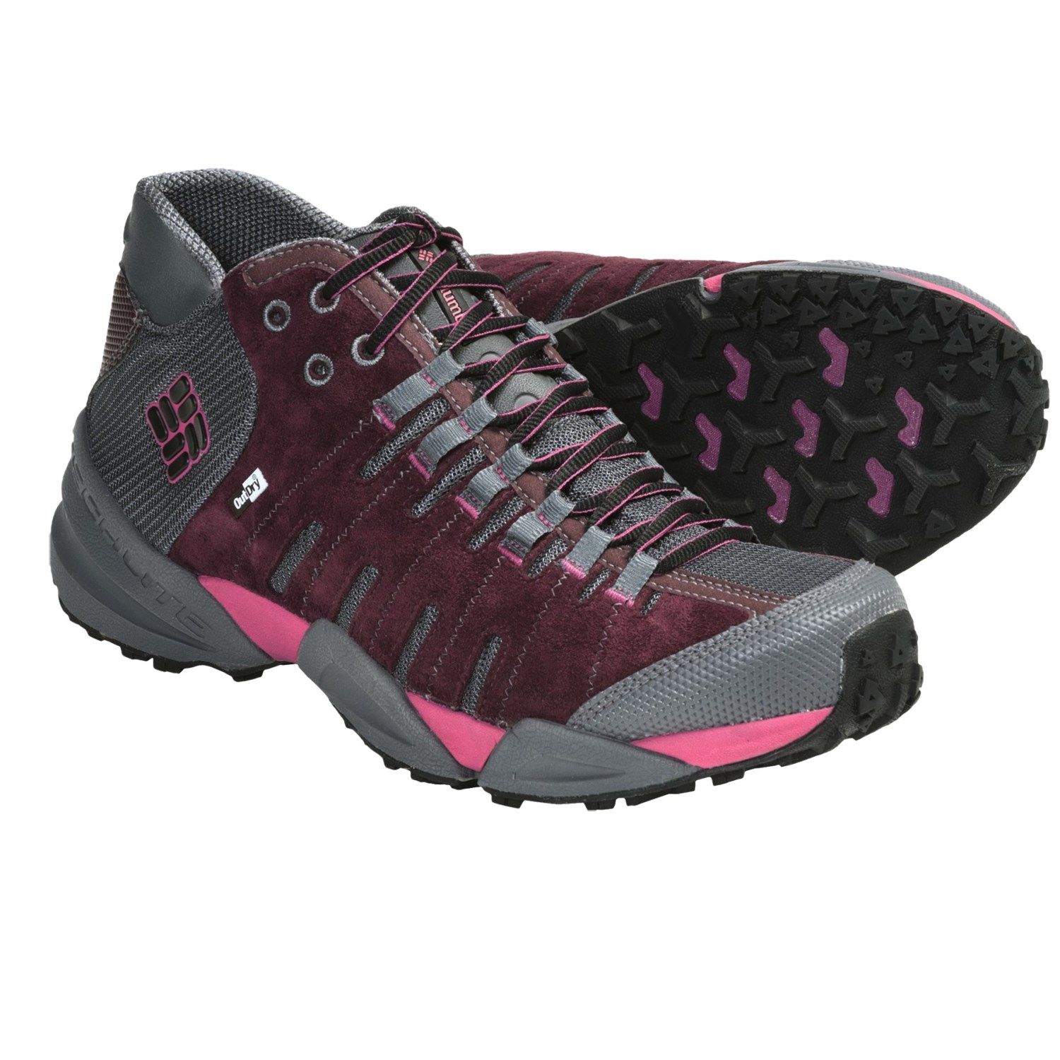 Mid OutDry^ Leather Hiking Boots (For Women) in Port Royal/Black