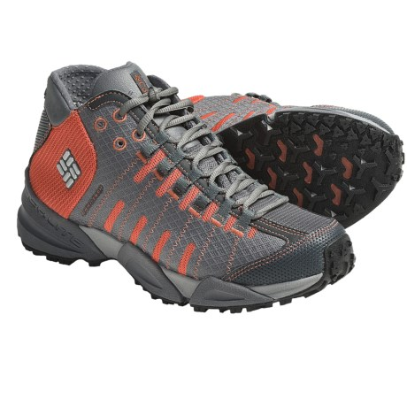 Columbia Sportswear Master of Faster Mid Trail Running Shoes - Omni-Tech®, Waterproof (For Women) in Hot Coral/Metallic Silver